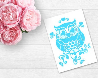Owl decal, Mandala Owl, Laptop Decal, yeti decals, Wall Decal, car decal, window decal, tumbler decals, Owl decals, cup decals, Agenda Decal