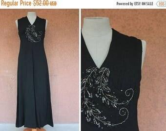 Summer Sale 1960's Evening Long Dress - Size L