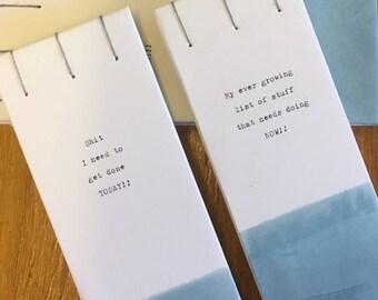Handbound list books, planner, notebook, organiser,free uk p&p