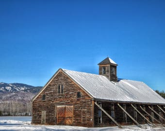 Photograph of Old Barn in Winter, Bethel, Maine