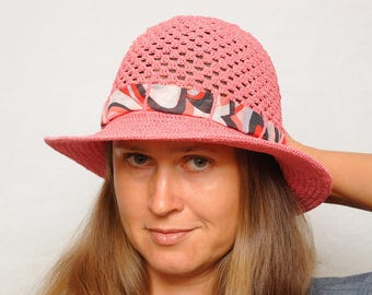 Clothing gift Travel gift Outdoors gift Crochet Sun hat, Womens gifts