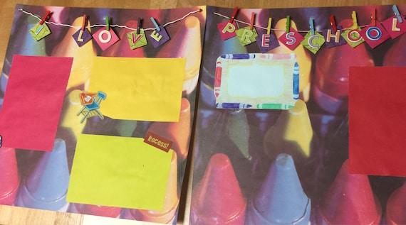 Scrapbooking: I Love Preschool, 12x12 Premade Scrapbook Page