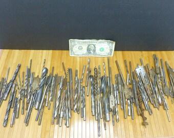 Drill bit lot-machinist metal wood tool bundle