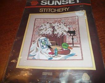 Vintage Sunset Stitchery Country Collection Needlework Kit