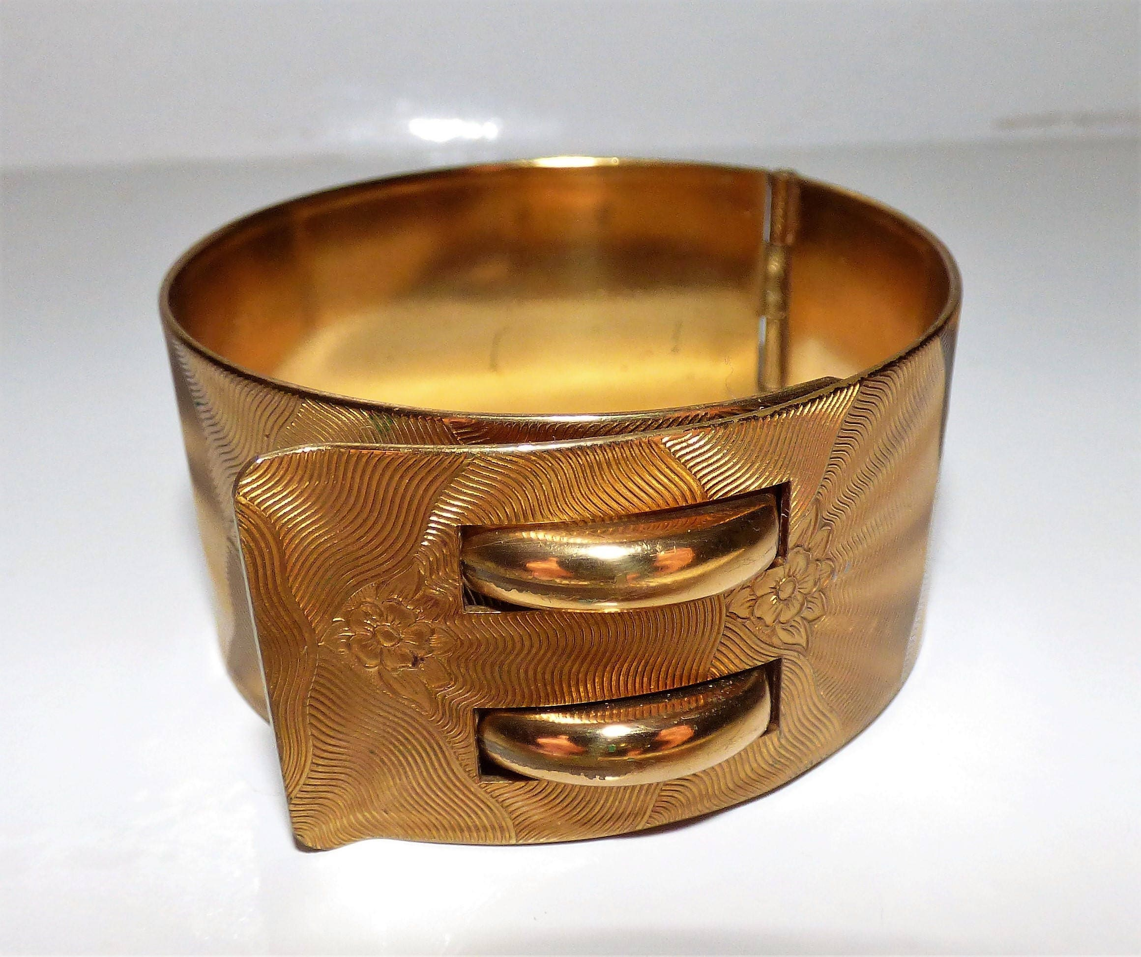dior clamper bracelet gold christian tone featherstone products cd
