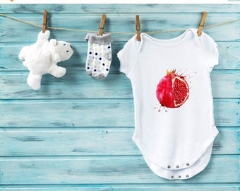 20% Pomegranate baby bodysuit, baby shower gift, cute baby clothes, fruit baby bodysuit, baby gift, fancy baby outfit, infant baby clothes