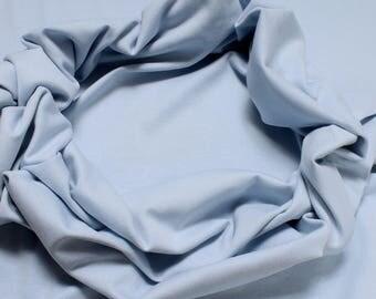 0.5 meter fabric wristband cotton elastane Interlock jersey light blue tube cbc GOTS C. Pauli