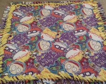 Rugrats Inspired Handmade Fleece Tie Blanket