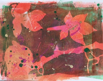 Original 4 colour monotype print - Autumn Series III