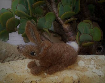 BOBBY - lovely little needle felt hare orenament.
