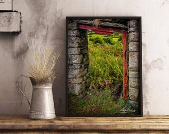 "Ireland Poster ""Into the Magical Irish Countryside"" Ireland Print, Irish Photography, Ireland Art, Irish Landscape, Wall Art"