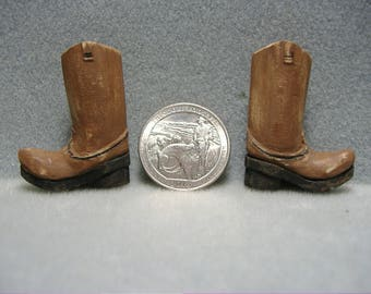 Cowboy boot, wood carving