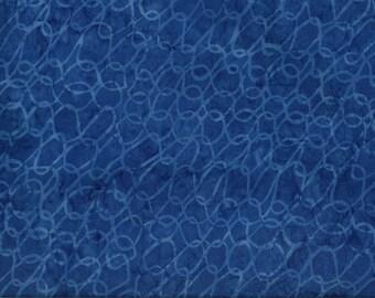 78 oval blue BATIK fabric