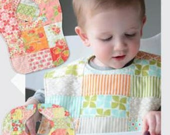 Charming Bibs Pattern by Camille Roskelley of Thimble Blossoms -153- 3 Sizes