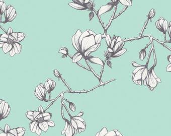 1/2 Yard Wild Bloom by Bari J. for Art Gallery Fabrics -Magnolia Study Fresh 22036