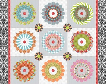 """Starburst Quilt Pack by Sue Daley Designs-  Finished Quilt Size 50.5"""" x 50.5"""""""