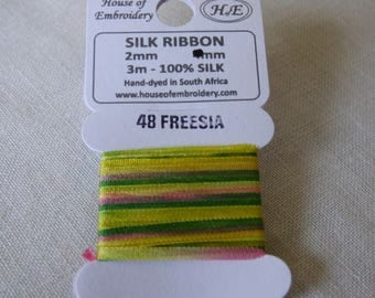 House of Embroidery collar 48 FREESIA 2mm Silk Ribbon