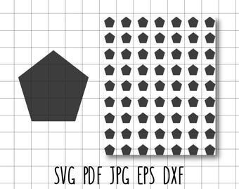 Pentagon Tag Label Template SVG DXF EPS Vector Cut Vinyl Transfer Scrapbooking Planner Stickers