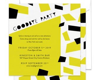 goodbye party invitation leaving party invitation farewell party invitation going away party - Goodbye Party Invitation