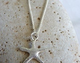 Silver Plated Starfish Necklace