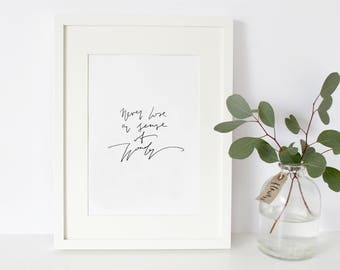 Never Lose a Sense of Wonder Hand Lettered Typography Print A4 Modern Calligraphy Script Writing