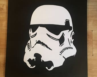 Star Wars Storm Trooper silhouette oil painting