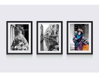 Sale of Venice print set, Venice Carnival Prints, Italy Print Set, Venice photography, Italian Wall Art, Italian wall decor, Venice wall art