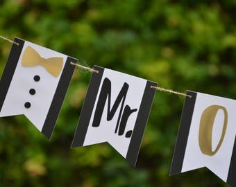 Mr Onederful Banner,Onederful Cake Smash, One banner,Baby Boy Photo Props,1st Birthday Cake Smash,Tuxedo Banner,Mr Onederful Banner