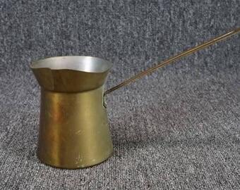 "Vintage Brass Long Handled 5"" Ladle/Pitcher"