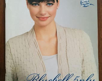 Patons Australia  Patons Book # 1224, Classic Elegance Bluebell 5 ply knits Rare