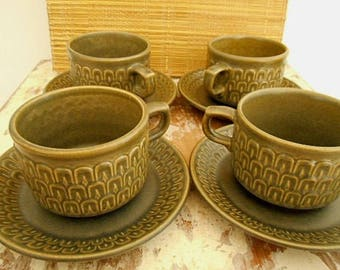 Pennine/Cambrian Green Duos Wedgwood Set of Four