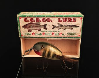 Creek Chub Dingbat Antique Fishing Lure Vintage Fishing Lure With Box In Box Fishing Tackle Wood Fathers Day Gift For Him Fishing Decor