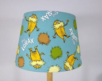 The Lorax Fabric Lampshade | Dr Seuss Fabric Lamp Shade | Handmade in Australia
