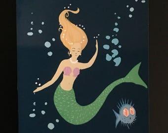You're Not a Mermaid Postcard Miniprint