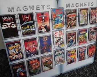 Choice of Classic Computer Game Fridge Magnet. Retro Cover Art