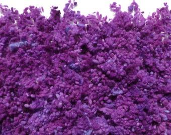 Hand-dyed wool nepps plumb/damson
