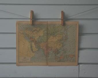 1929 Vintage Asia Map