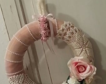 Beautiful Crown of TRIMs, beads very shabby chic