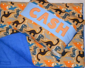 Dinosaur Pillow, Personalised Dinosaur Cushion, Dinosaur Quilt, Personalised Quilt, Jurassic Park Cushion, Personalised Dinosaur Cushion