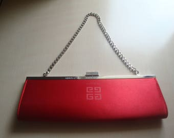 Givenchy Parfums Chain Solid Red Shoulder Bag Lady Messenger