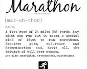 Marathon Card - Marathon Definition