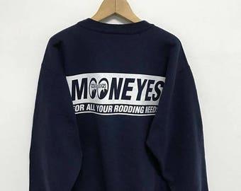 20% OFF Vintage Mooneyes For All Your Rodding Needs,Mooneyes Racing Clothing,90s Sweatshirt