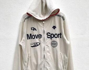 "20% OFF Vintage Descente Move Sport Hoodie / Descente Japan / Descente Sportwear / Armpit 22"""