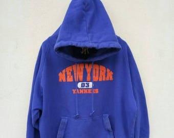 20% OFF Vintage New York Yankees Hoodie Sweater/Yankees Sweatshirt/Yankees  Baseball Jacket/Swag Hip hop