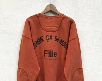 20% OFF Vintage Comme Ca Du Mode Fille Spellout Sweatshirt / Comme Ca Du Mode Japan / Designer