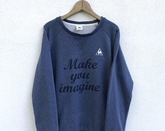 20% OFF Vintage Le Coq Sportif Make You Imagine Sweatshirt / Le Coq Sportif Sweater / Le Coq Sportif Crewneck