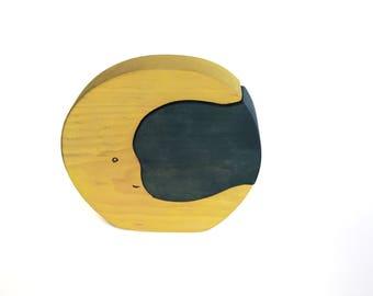 Moon Block Wood Toy