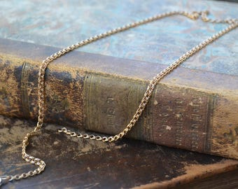 Vintage 14k rose gold chain necklace, Soviet 14k gold chain necklace, Russian vintage gold chain, Vintage gold jewelry, Made in USSR