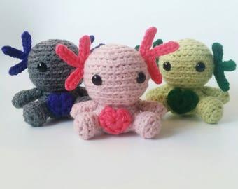 Crochet Axolotl  Amigurumi Plush toy