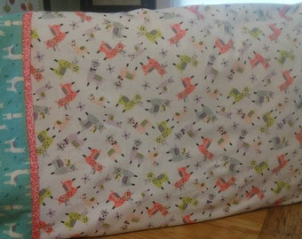 Llama full/queen size pillowcase set.